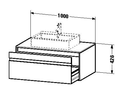 duravit ketho waschtischunterschrank h ngend 1000 x 426 x 550 mm mit 1 auszug f r aufsatzbecken. Black Bedroom Furniture Sets. Home Design Ideas