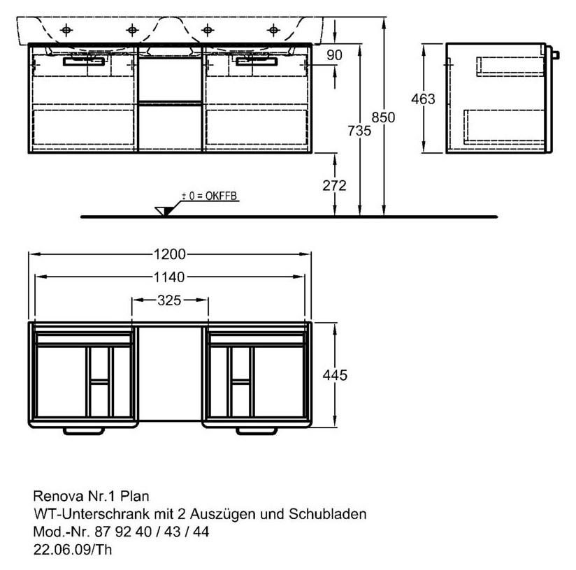 keramag renova nr 1 plan waschtischunterschrank 1200mm x 445mm x 463mm korpus wei front. Black Bedroom Furniture Sets. Home Design Ideas
