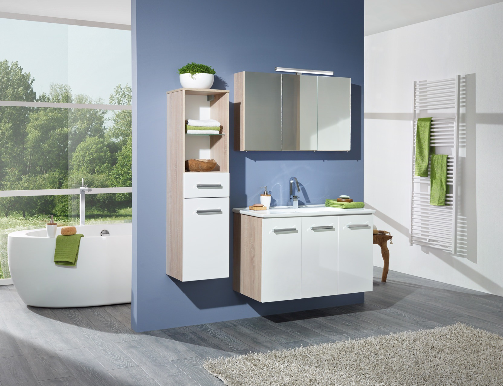 e zoll simply santos waschplatz 100cm sonoma eiche s grau dekor wei hochglanz 83209. Black Bedroom Furniture Sets. Home Design Ideas
