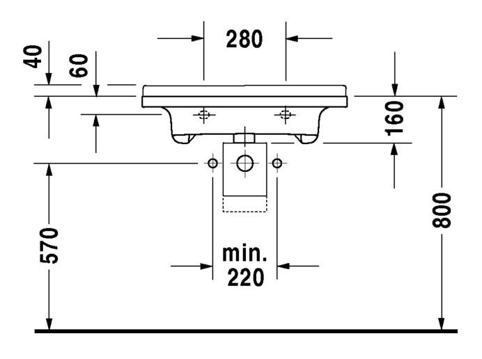 Duravit Starck 3 Waschtisch Vital Med 700 X 545 Mm Barrierefrei