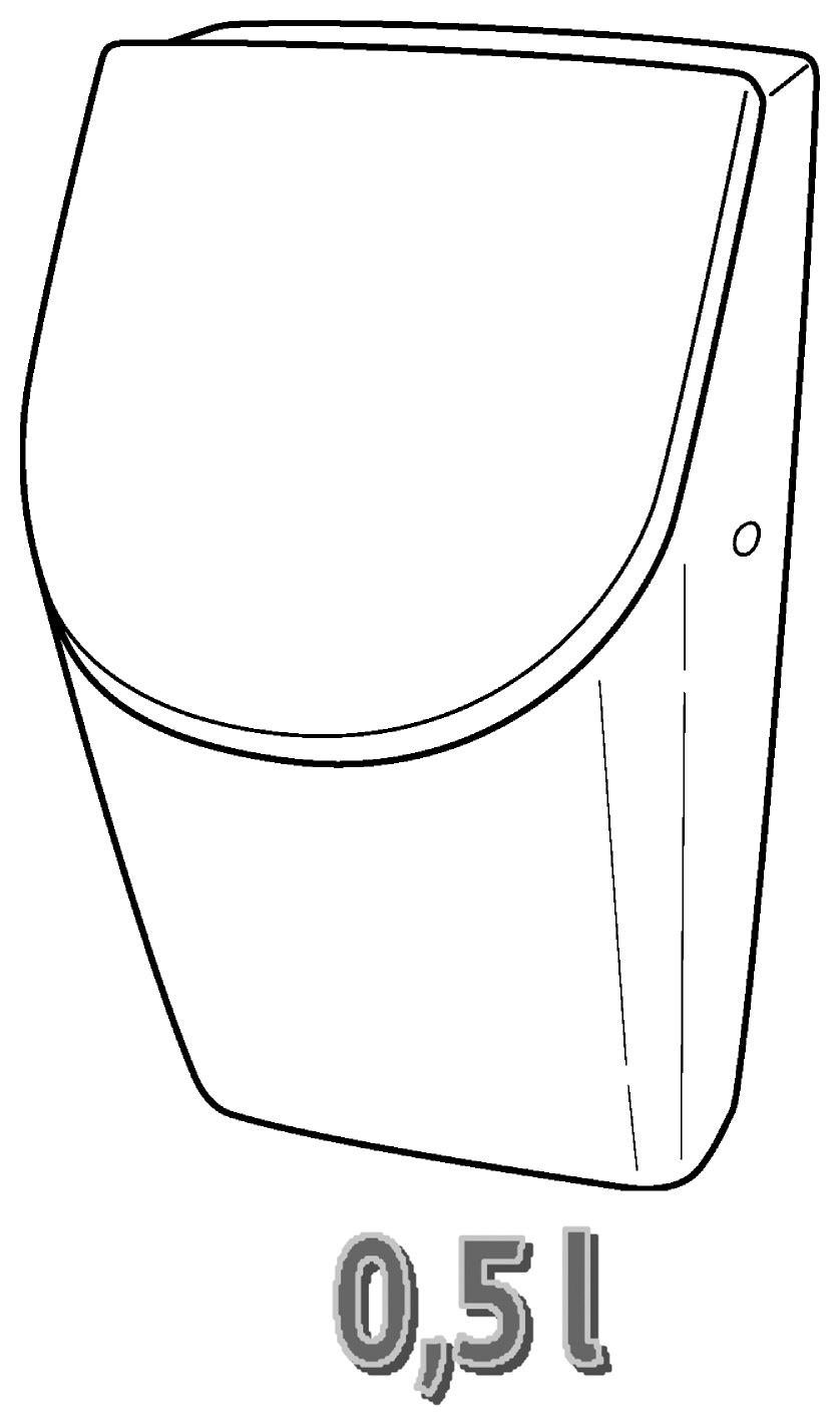 keramag renova nr 1 plan urinal mit deckel 235120 metallscharniere wei alpin keratect 235120600. Black Bedroom Furniture Sets. Home Design Ideas