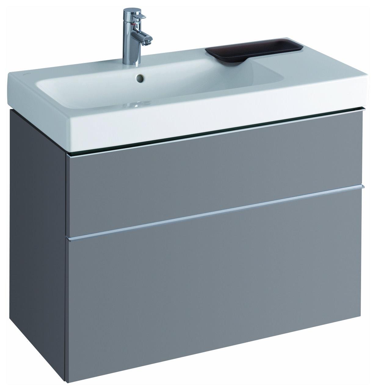 keramag icon waschtischunterschrank 890x620x477mm platin. Black Bedroom Furniture Sets. Home Design Ideas