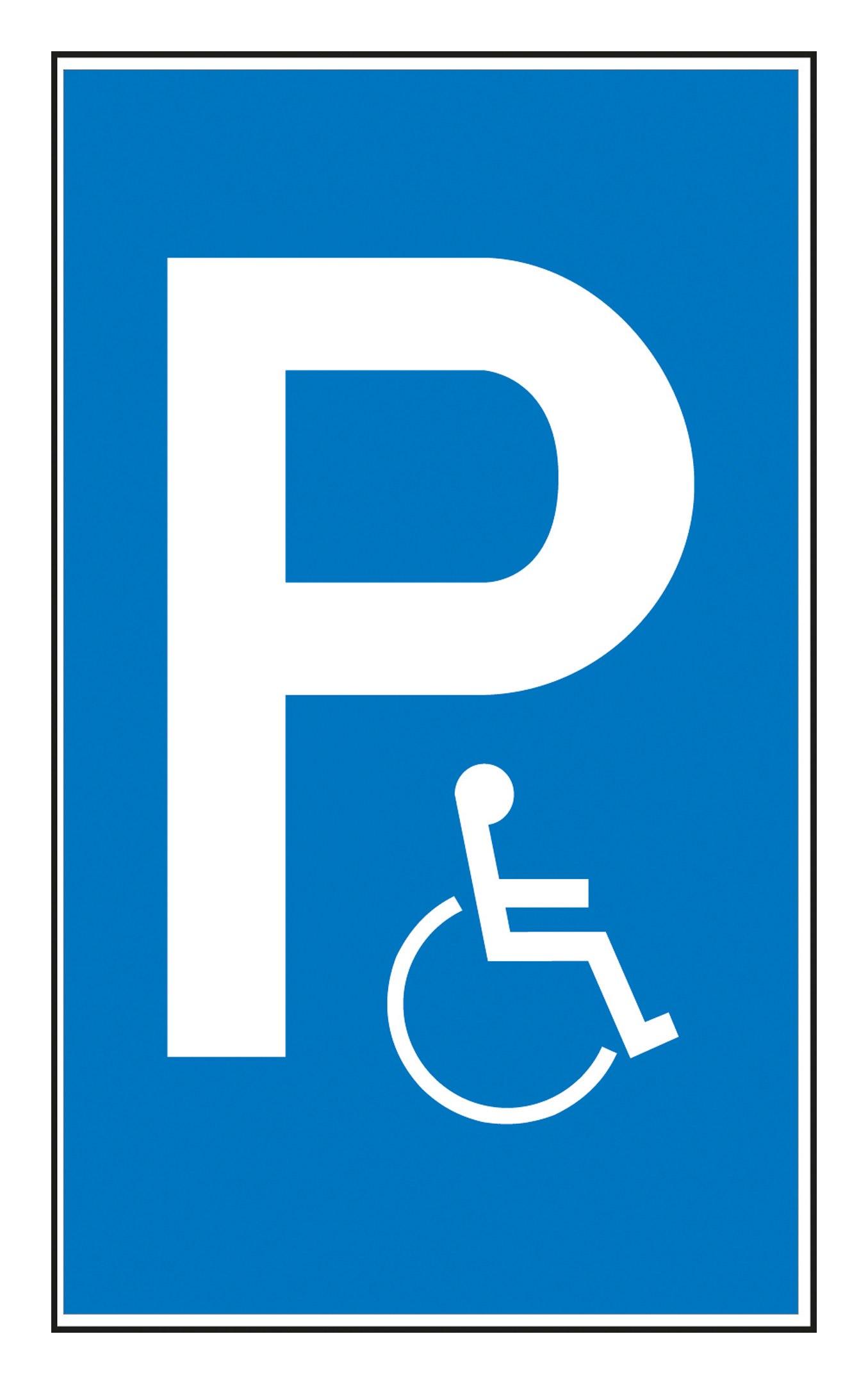 SafetyMarking Parkplatzsschild Behindertenparkplatz Aluminium geprägt - 11.5136