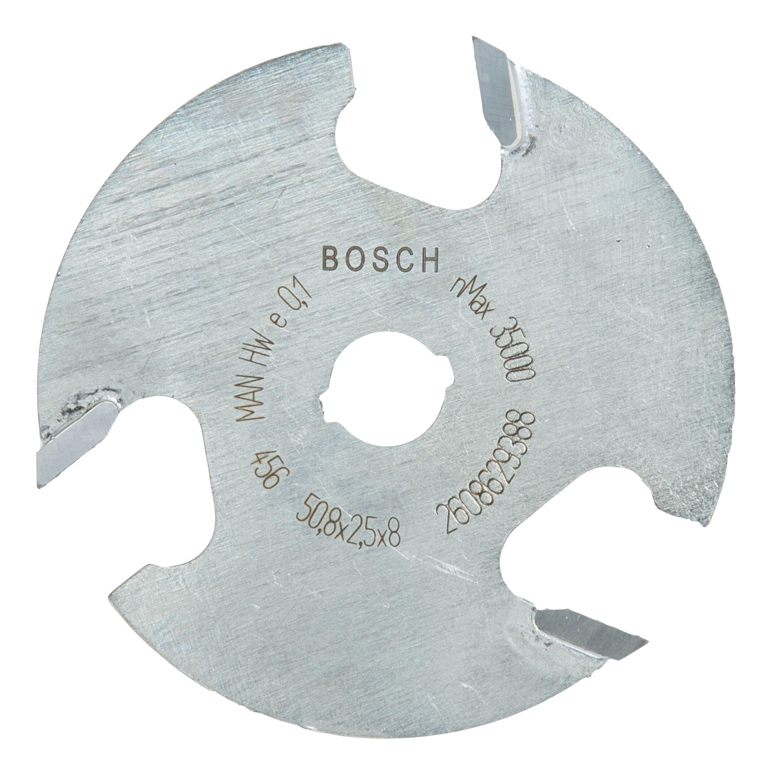 Bosch Zubehör Scheibennutfräser dreischneidig - 50,8 x 2,5 x 8 x 8 mm - 2608629388