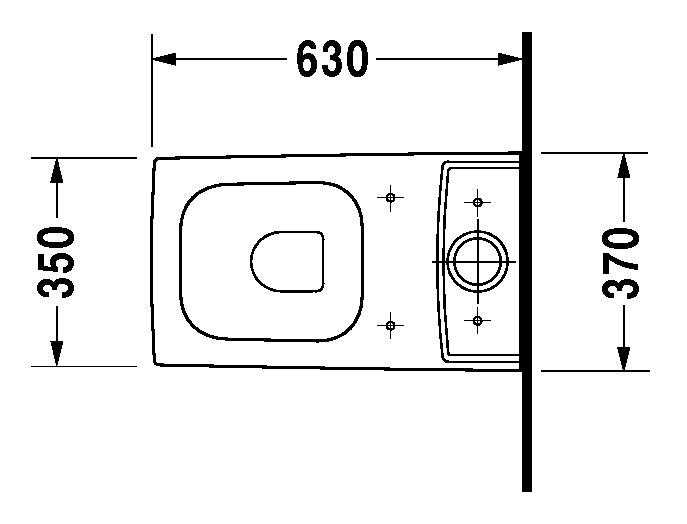 duravit vero stand wc kombination 370 x 630 mm tiefsp ler mit abgang vario f r sp lkasten wei. Black Bedroom Furniture Sets. Home Design Ideas