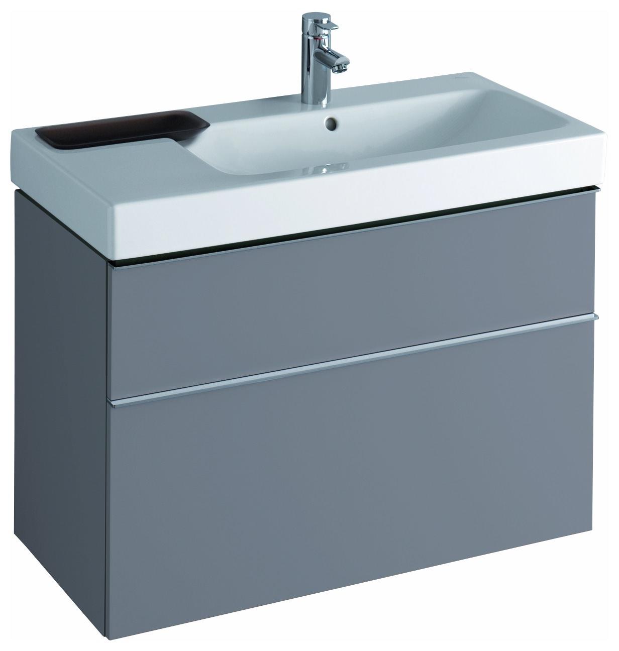 keramag icon waschtischunterschrank 890x620x477mm platin hochglanz 840392000. Black Bedroom Furniture Sets. Home Design Ideas