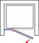 Anschlag Drehtür links (an Nebenteil)