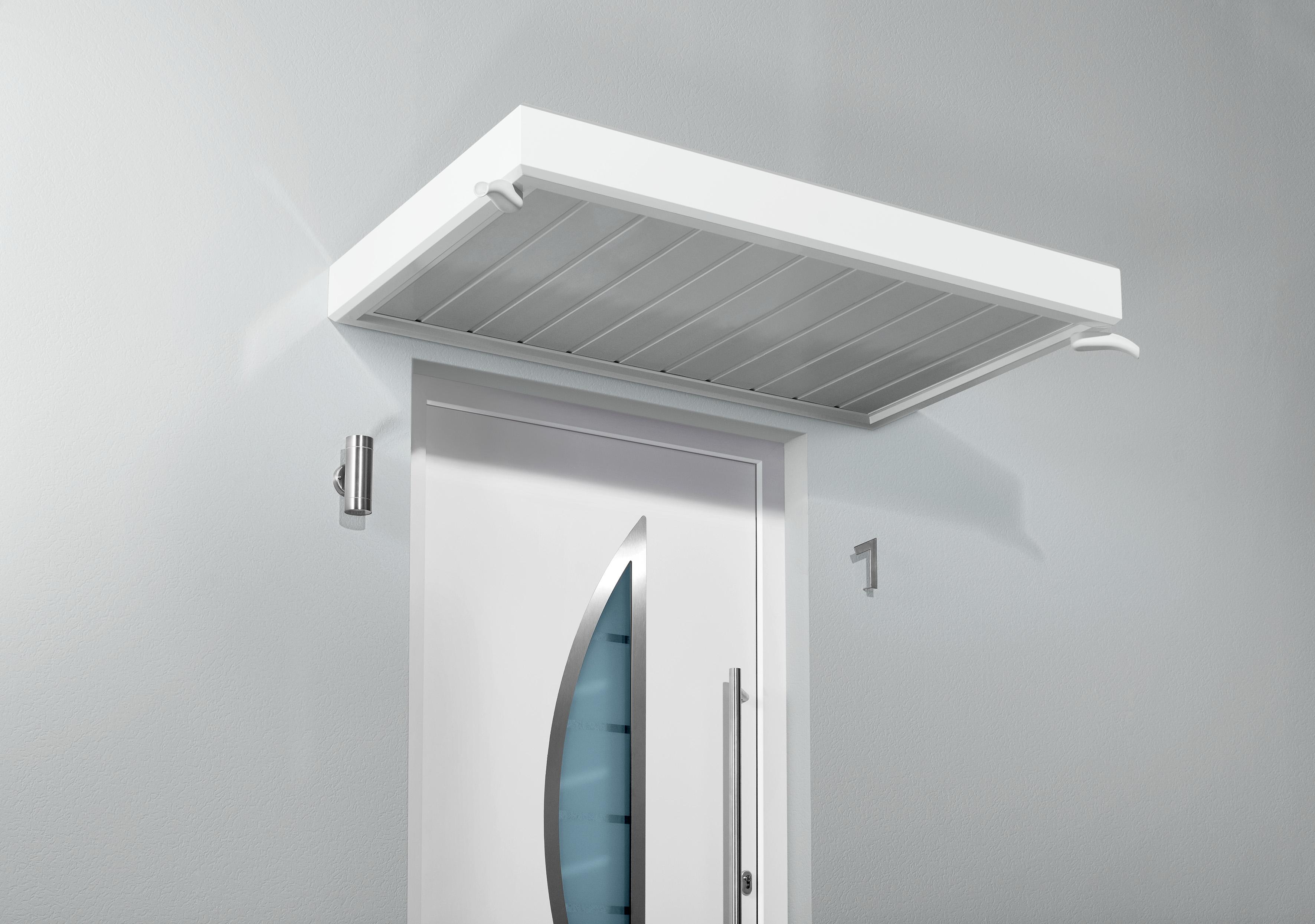 gutta nm rechteckvordach 2000 x 900 mm kunststoff wei 7210706. Black Bedroom Furniture Sets. Home Design Ideas
