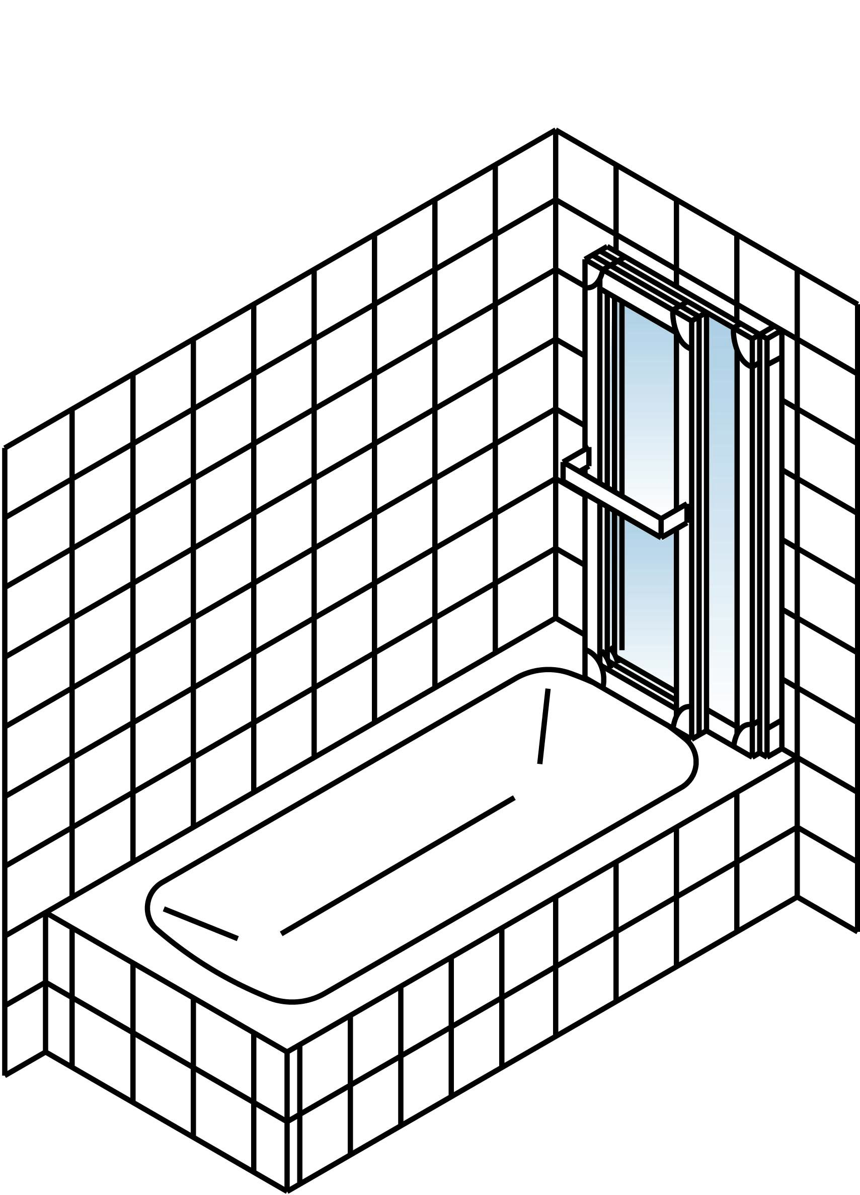 schulte komfort badewannenfaltwand 3 teilig klar hell alunatur 1518mm d1410 01 50 rechts. Black Bedroom Furniture Sets. Home Design Ideas