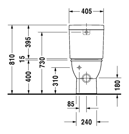 duravit darling new stand wc kombination 370 x 630 mm tiefsp ler mit abgang vario f r sp lkasten. Black Bedroom Furniture Sets. Home Design Ideas
