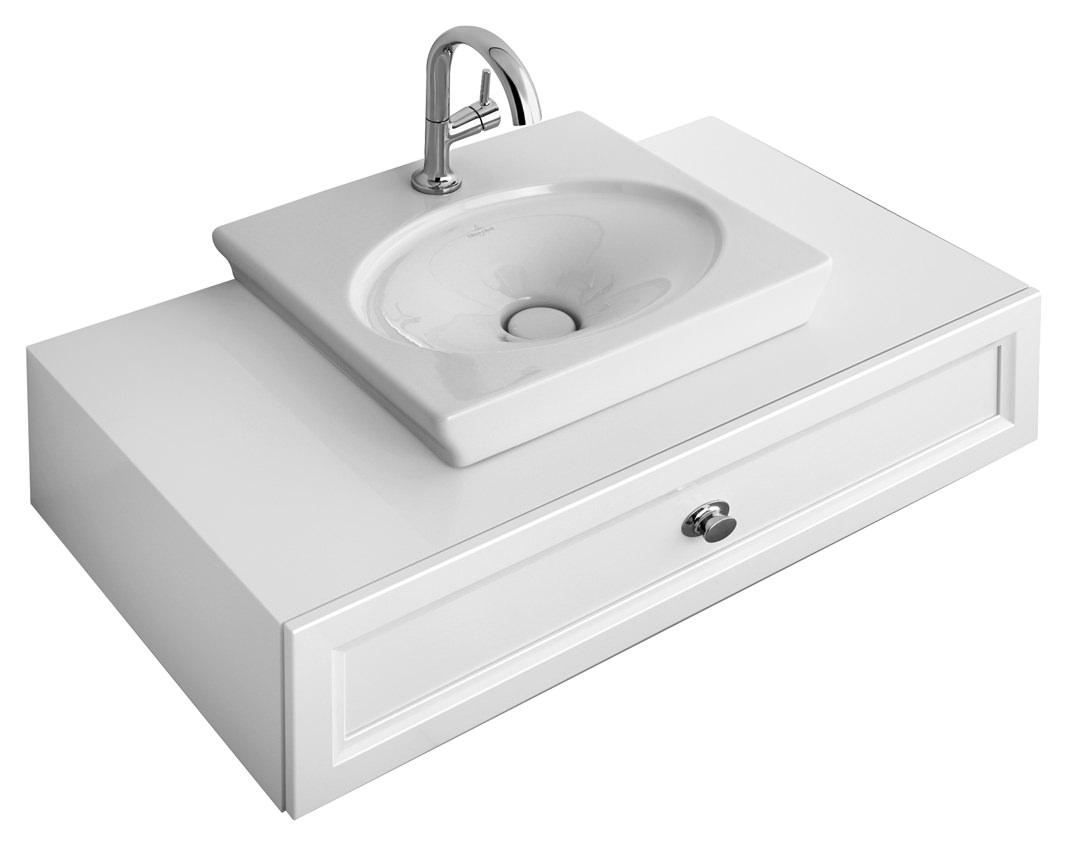 villeroy boch la belle aufsatz handwaschbecken 520 x 460 mm mit hahnloch ohne berlauf wei. Black Bedroom Furniture Sets. Home Design Ideas