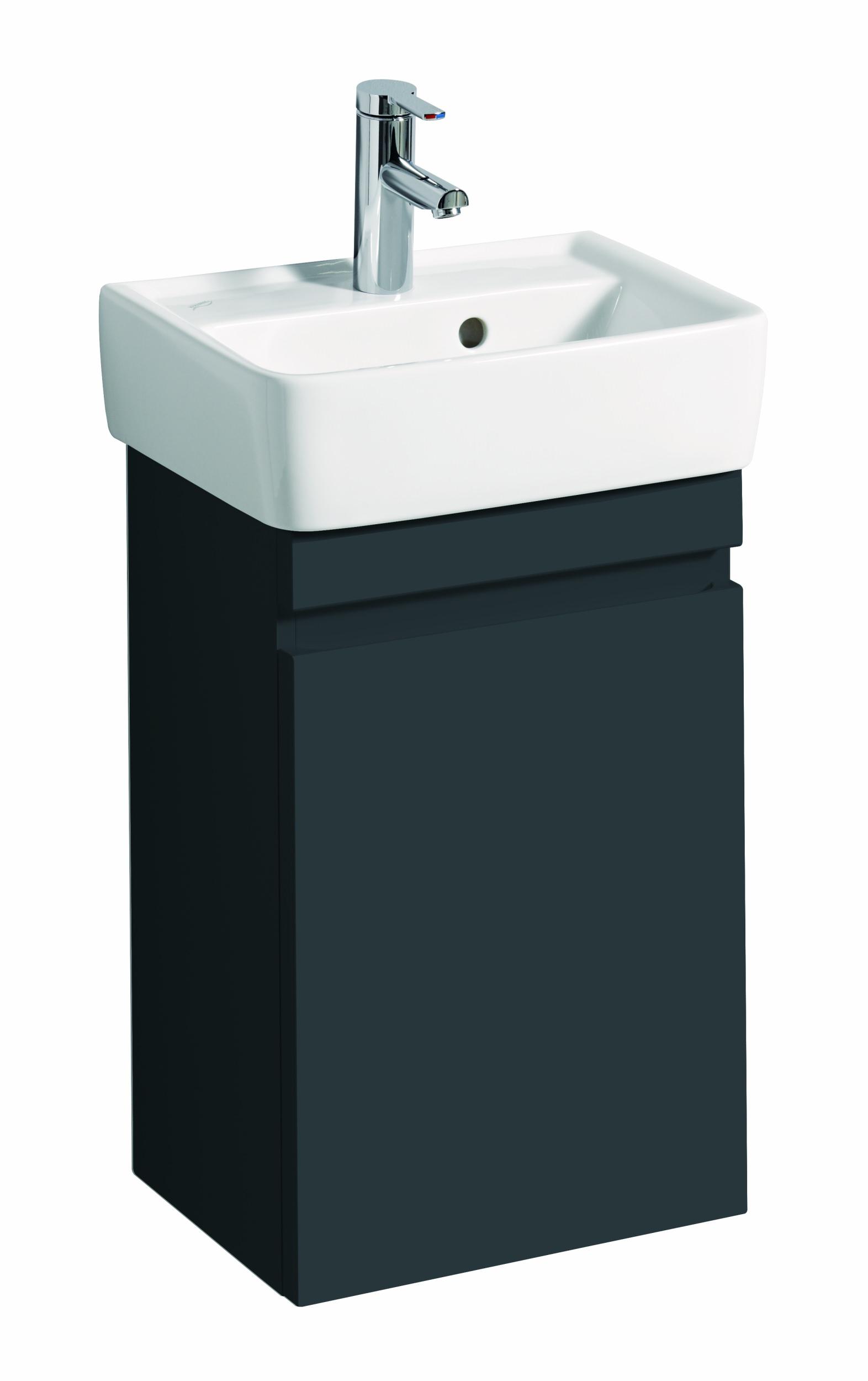 keramag renova nr 1 plan handwaschbecken unterchrank 394x586x295mm t ranschlag rechts links. Black Bedroom Furniture Sets. Home Design Ideas
