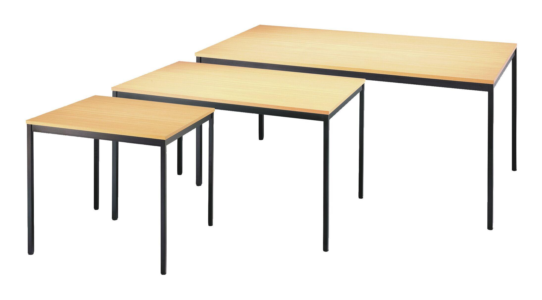 Tisch 1400x800 mm schwarz / Buche - Sim140x80BLBU