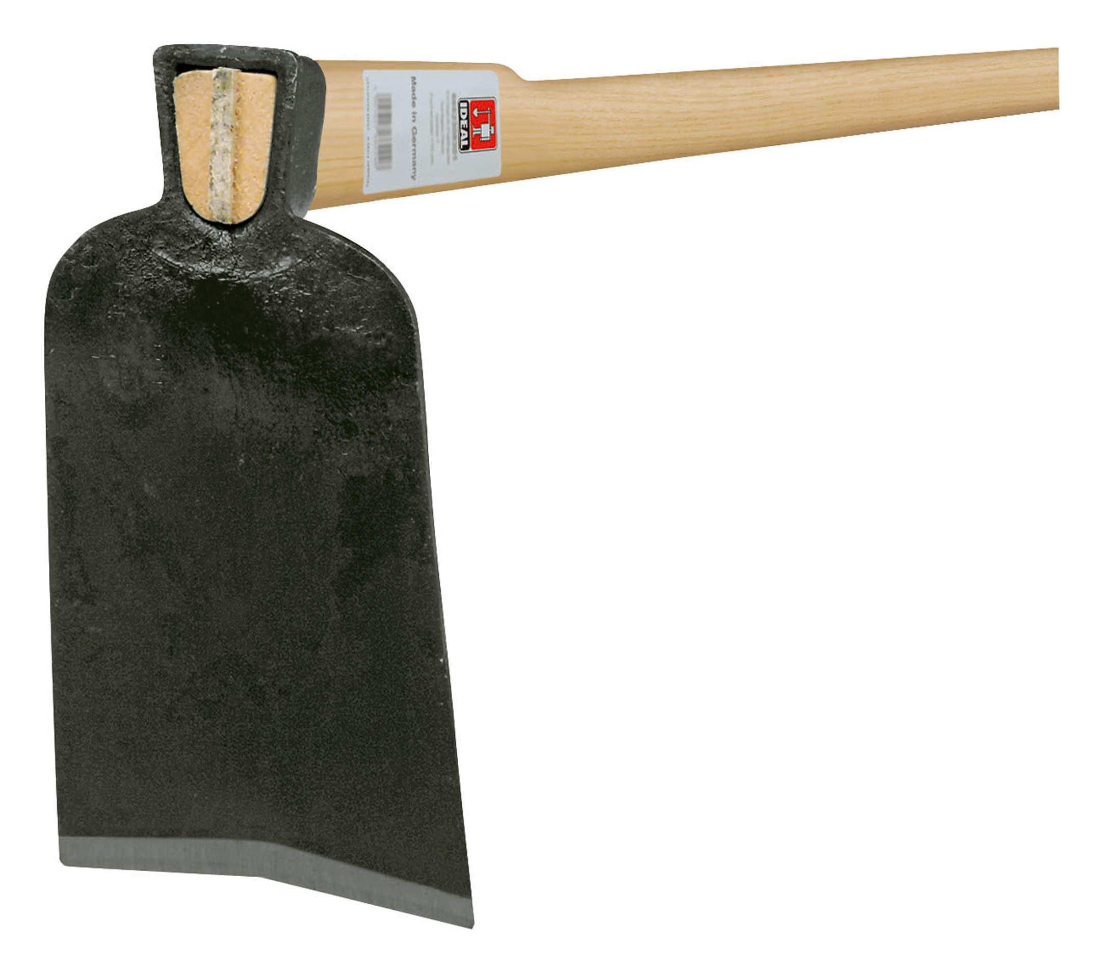 Idealspaten Ideal Ulmer Hacke geschmiedet mit Eschestiel 1350mm Größe 0 kantiges... 66740001