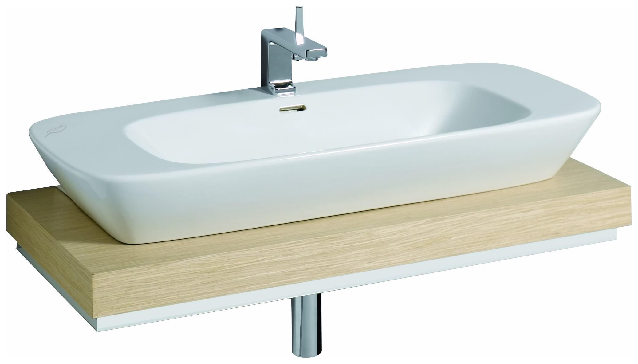 keramag silk waschtisch 121600 1000mm x 470mm wei alpin. Black Bedroom Furniture Sets. Home Design Ideas