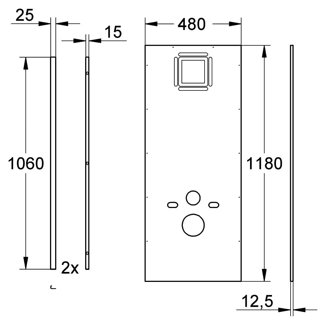 grohe rapid sl verkleidung f r wand wc 38636001. Black Bedroom Furniture Sets. Home Design Ideas