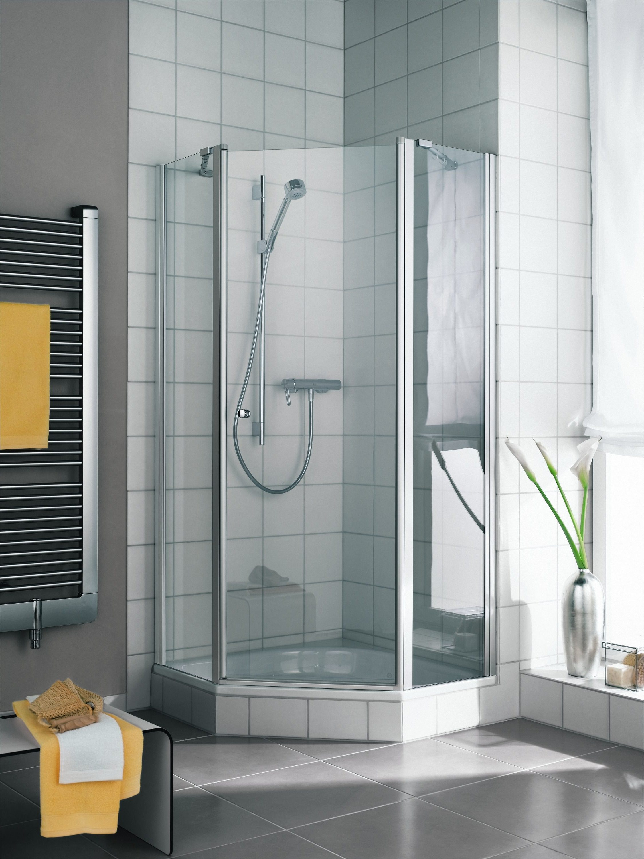kermi ibiza 2000 f nfeckdusche mit schwingt r klarglas. Black Bedroom Furniture Sets. Home Design Ideas