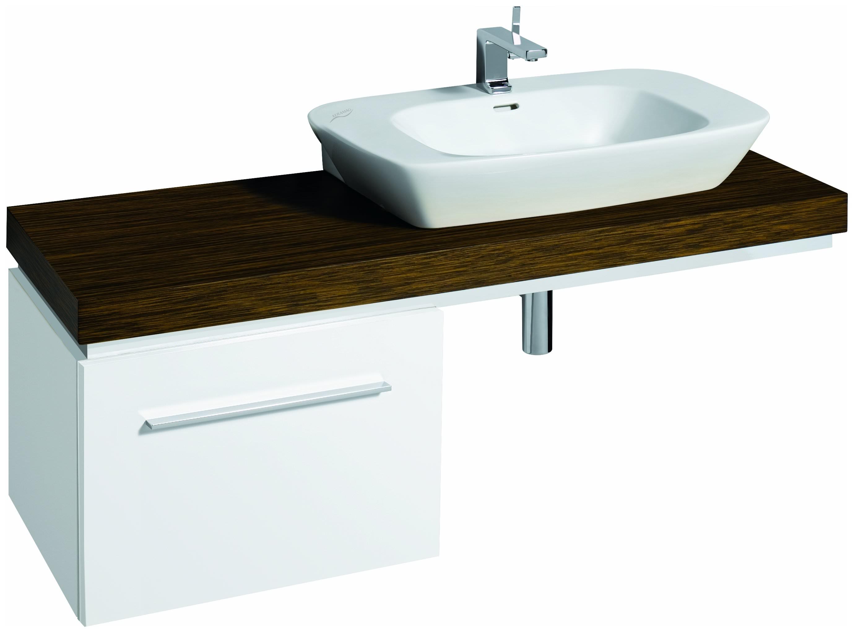 keramag silk waschtisch 800mm x 470mm wei alpin 121680000. Black Bedroom Furniture Sets. Home Design Ideas