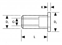 1433670 Gesipa Blindnietmutter M4 mittel Mini-Pack