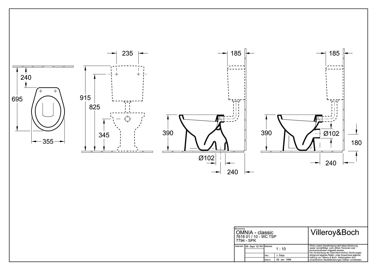 villeroy boch o novo tiefsp lklosett stand wc abgang waagerecht mit sp lrand wei alpin. Black Bedroom Furniture Sets. Home Design Ideas