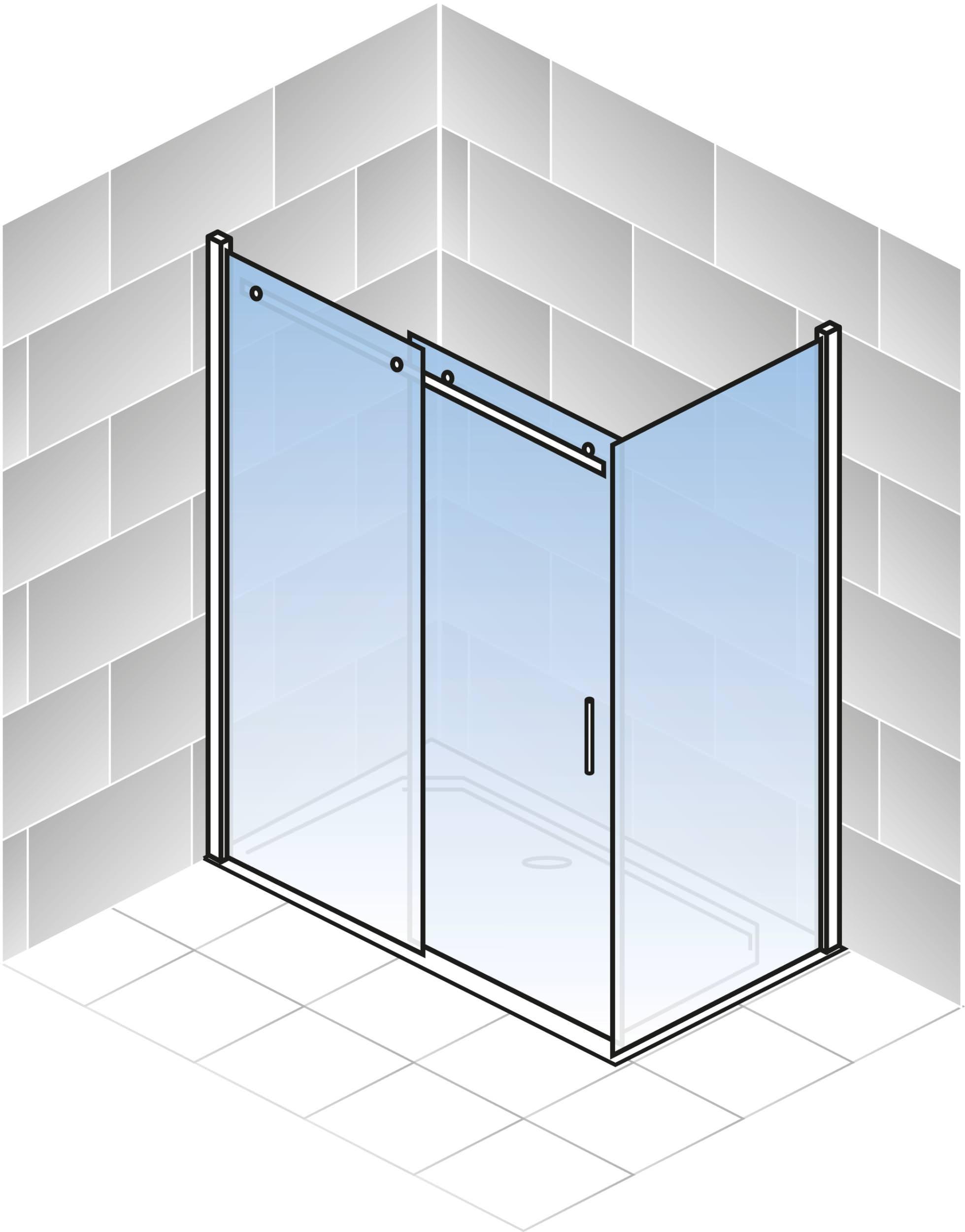 schulte alexa style 2 0 gleitt r mit seitenwand klarglas hell chromoptik 120 x 80 cm 200 cm sw. Black Bedroom Furniture Sets. Home Design Ideas
