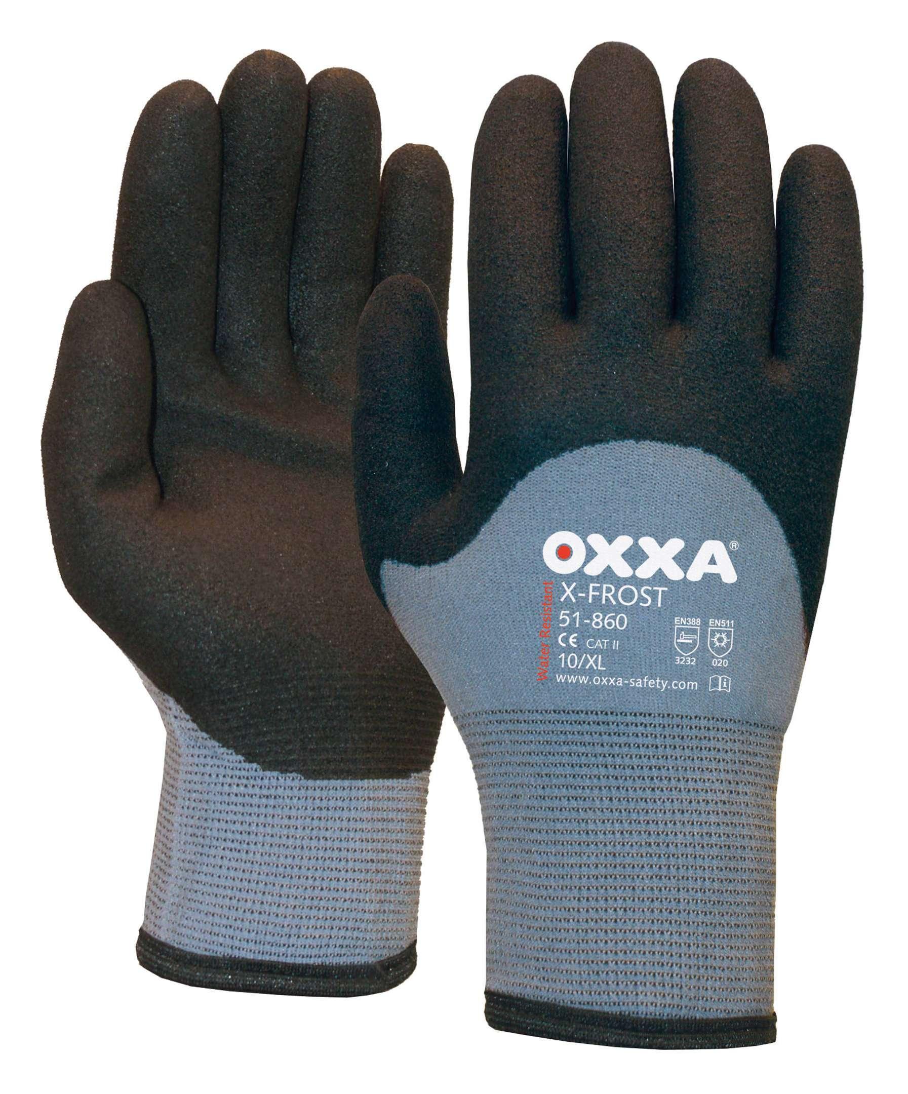 EN 5 OXXA Kälteschutzhandschuh Größe 11 schwarz//grau Nylonträger X-FROST EN 388