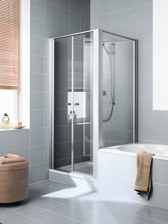 kermi ibiza 2000 seitenwand verk rzt beweglich neben badewanne klarglas hell silber mattglanz. Black Bedroom Furniture Sets. Home Design Ideas