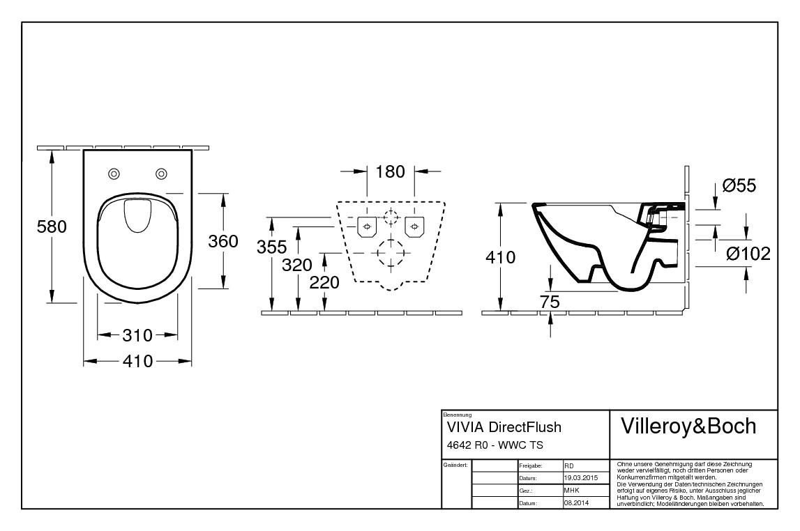 villeroy boch vivia tiefsp lklosett comfort wand wc ohne sp lrand wei alpin ceramicplus. Black Bedroom Furniture Sets. Home Design Ideas