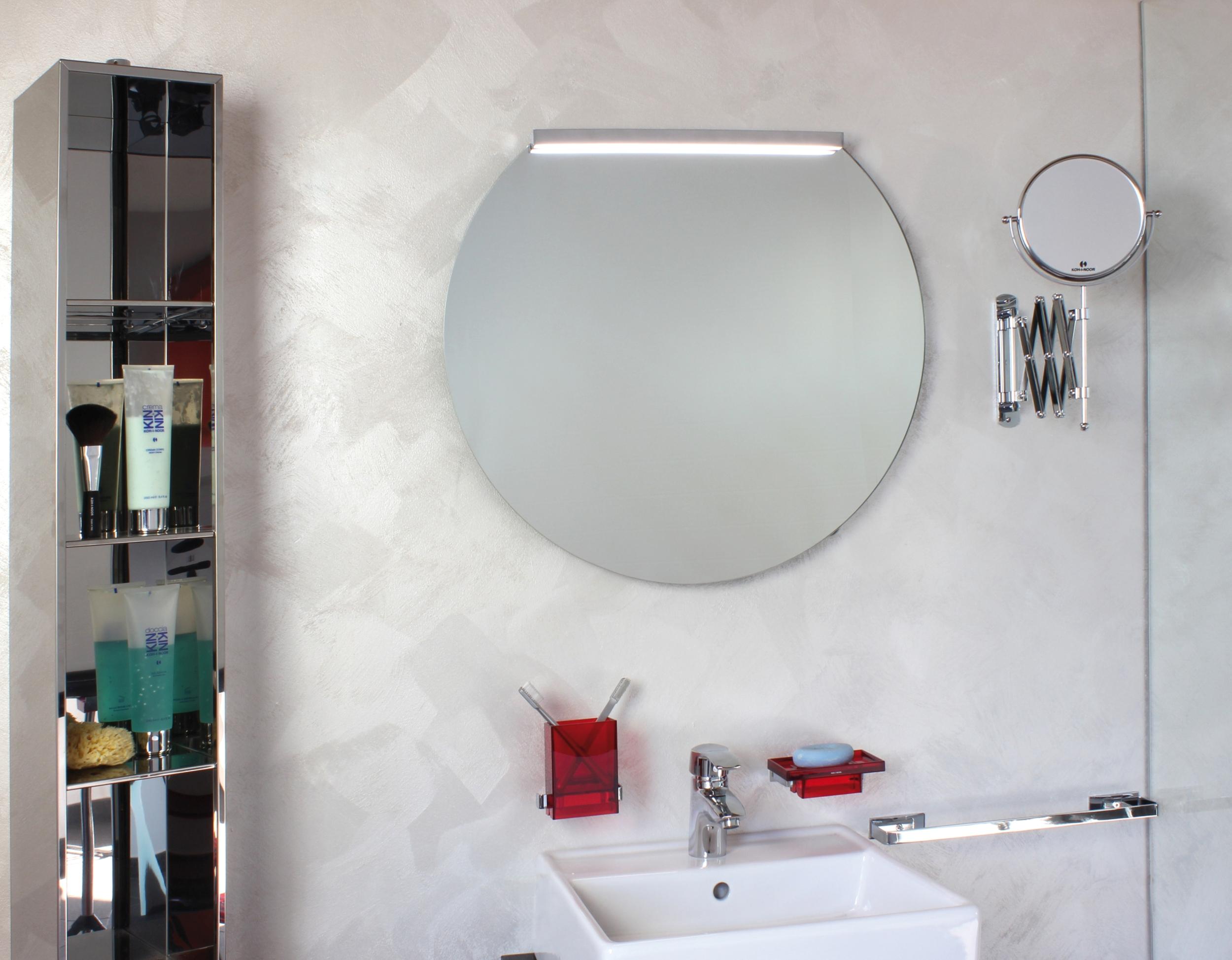 koh i noor filo lucido tronco abgeschnittener runder spiegel mit kantenschliff 800 x 704 mm 45580. Black Bedroom Furniture Sets. Home Design Ideas