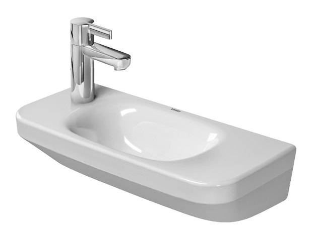 duravit durastyle handwaschbecken 500 x 220 mm mit hahnloch rechts ohne berlauf wei. Black Bedroom Furniture Sets. Home Design Ideas