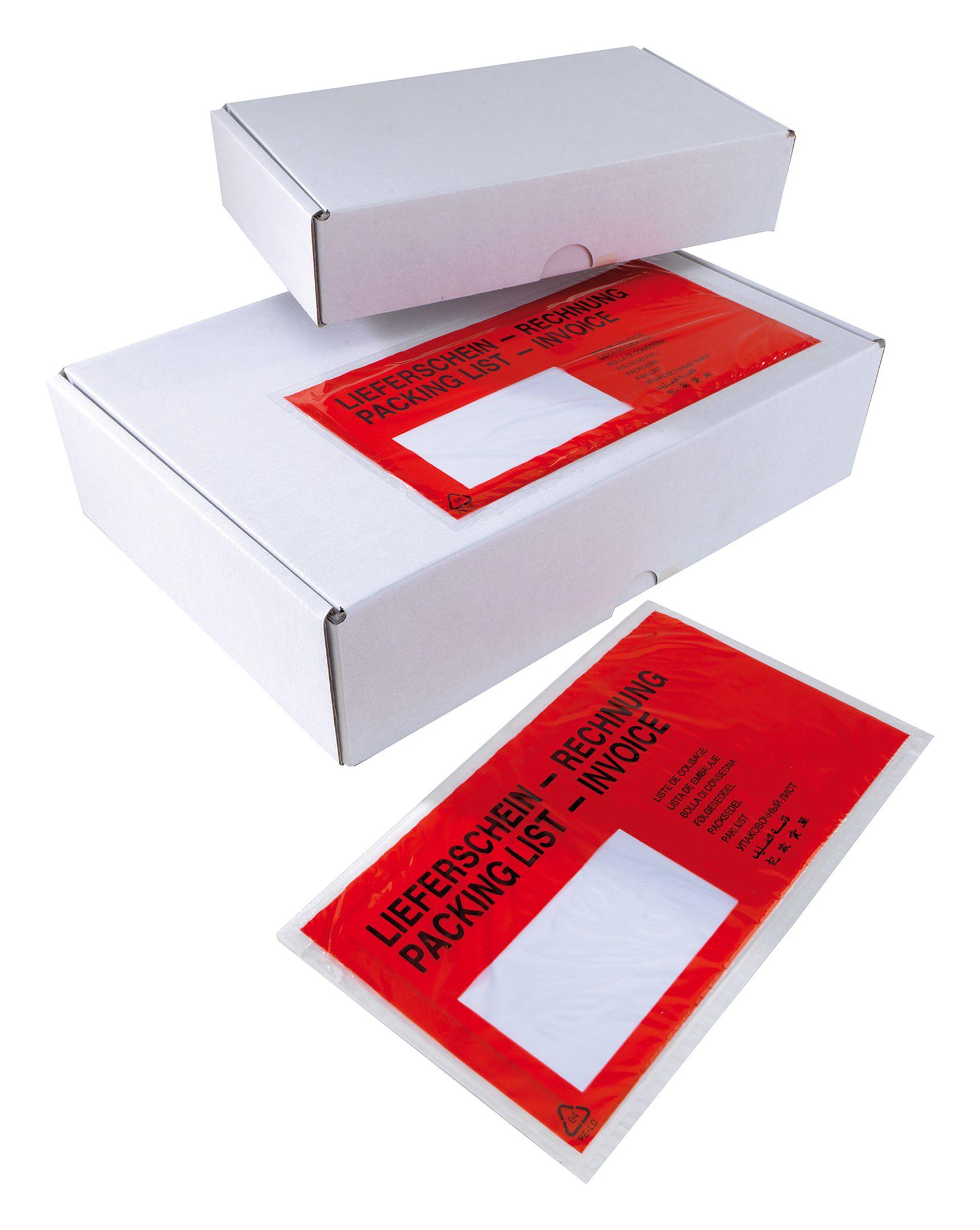 Selbstklebende Begleitpapiertasche DIN lg ohne... 121020 (VPE: 1.000 Stück)