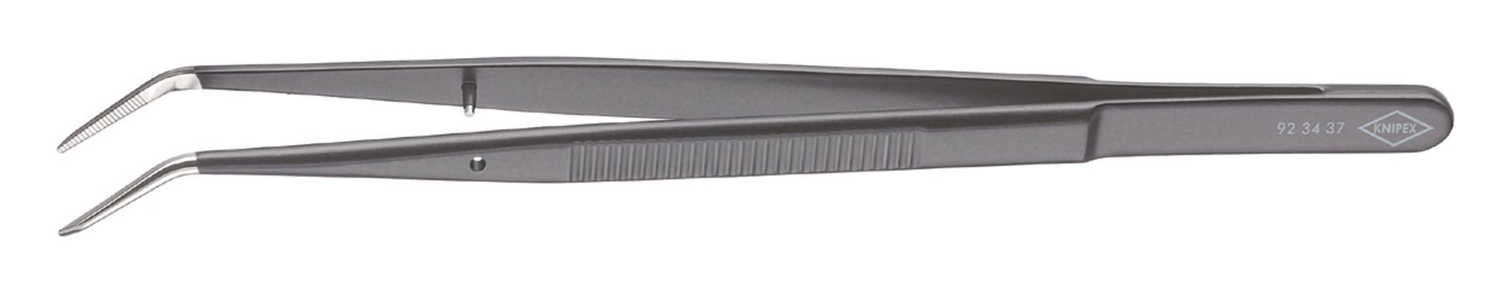 Knipex Präzisions-Pinzette schwarz 155mm spitz gebogen - 92 34 37