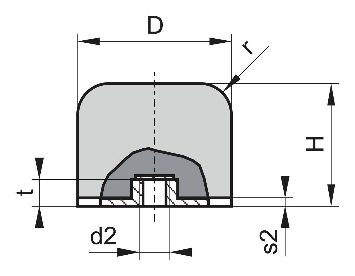 Kran Gummi Puffer GP-1 IG D80 H66 M12