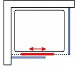 Gleittür links / Seitenwand rechts