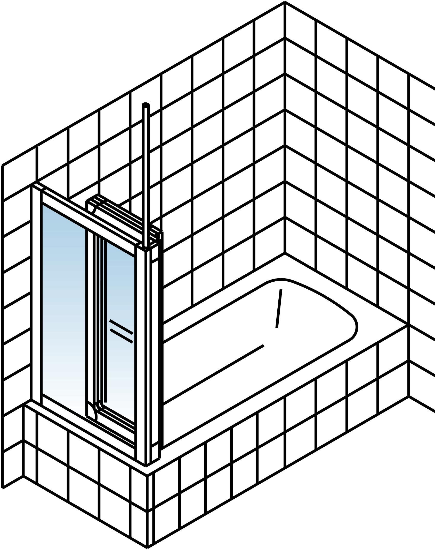 schulte komfort seitenwand f r badewannenfaltwand softline. Black Bedroom Furniture Sets. Home Design Ideas