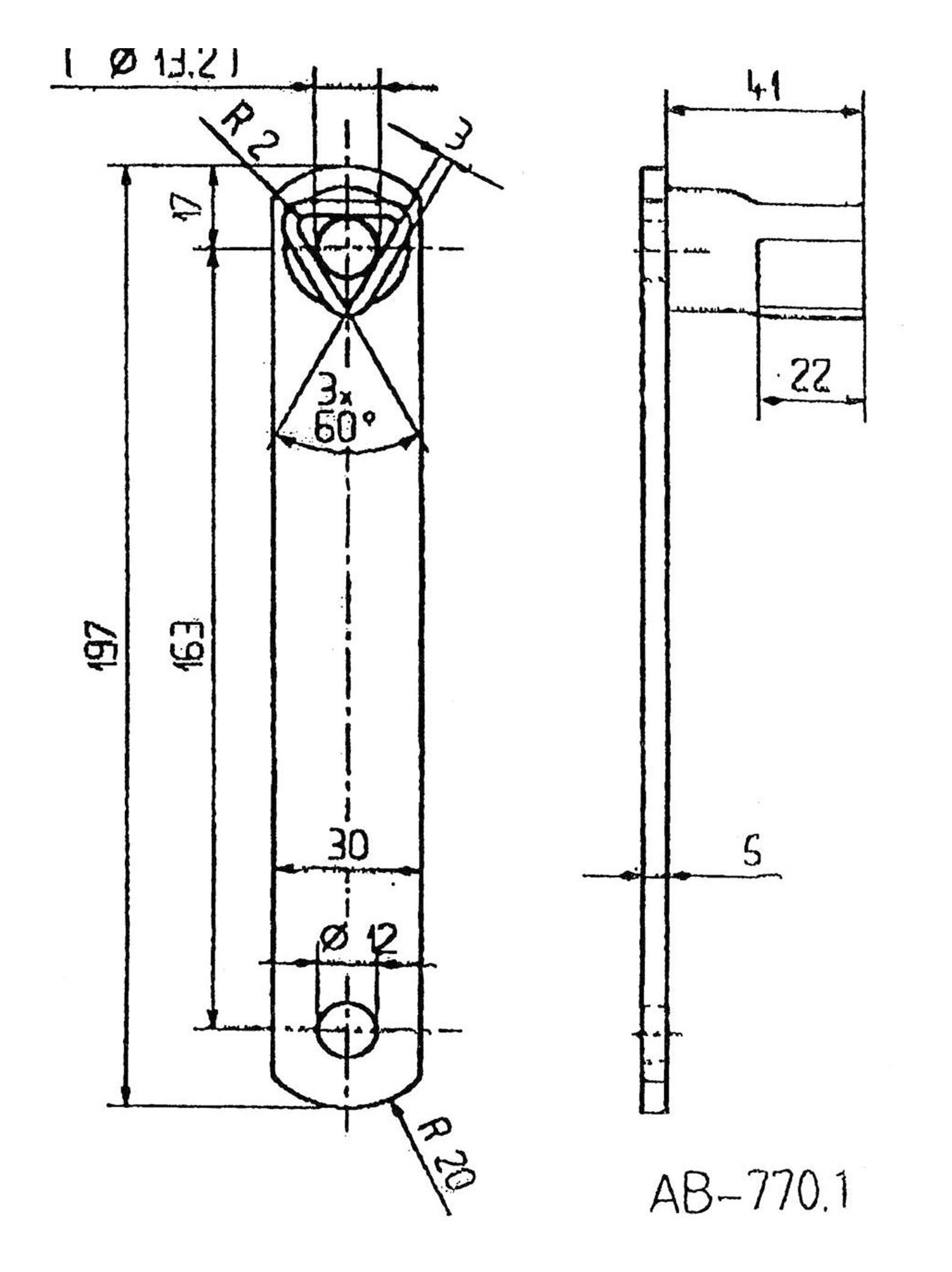 Bever & Klophaus Dreikantschlüssel 17mm - 770.1