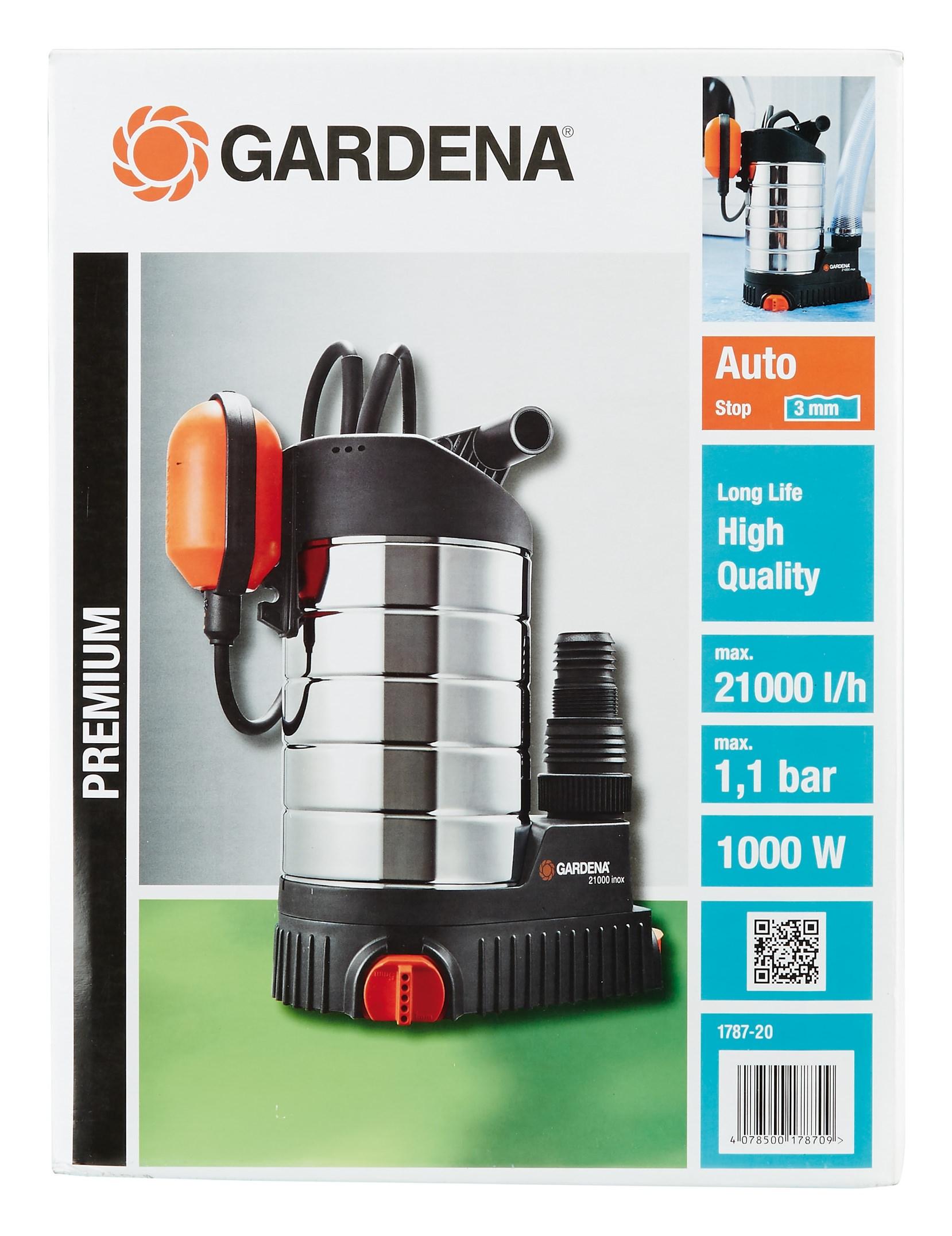 Gardena Tauchpumpe 21000 Inox 1787 - 01787-20