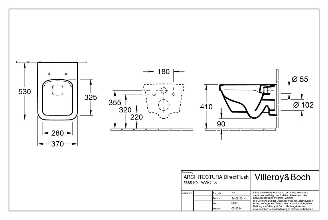 villeroy boch architectura tiefsp lklosett wand wc ohne sp lrand design eckig wei alpin. Black Bedroom Furniture Sets. Home Design Ideas