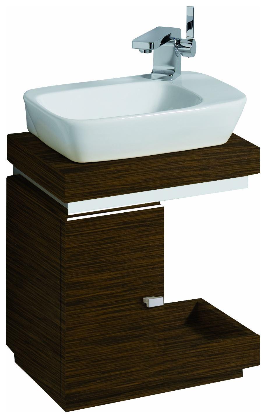 keramag silk handwaschbecken unterschrank 400x440x290mm wenge pangar echtholzfurnier 816441000. Black Bedroom Furniture Sets. Home Design Ideas
