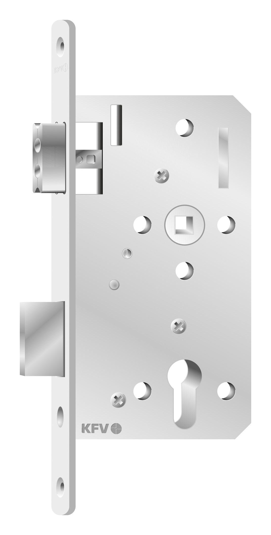 kfv zimmertür-einsteckschloss profilzylinder pz entfernung 72mm