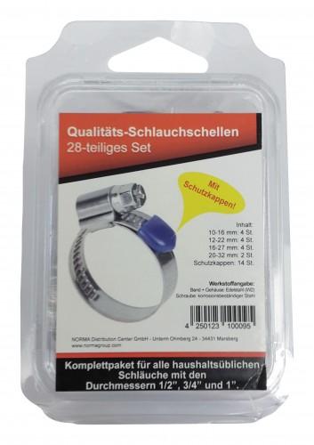 9mm Breite 10 x Schlauchschelle Schlauchschellen DIN3017  16-27mm W1