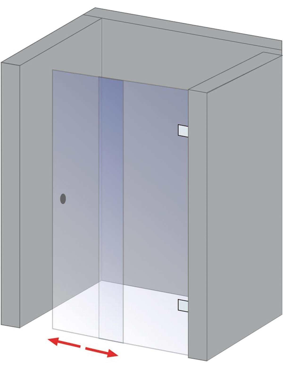 schulte davita gleitt r 2 teilig f r nische echtglas inkl aufma und montage d48010. Black Bedroom Furniture Sets. Home Design Ideas