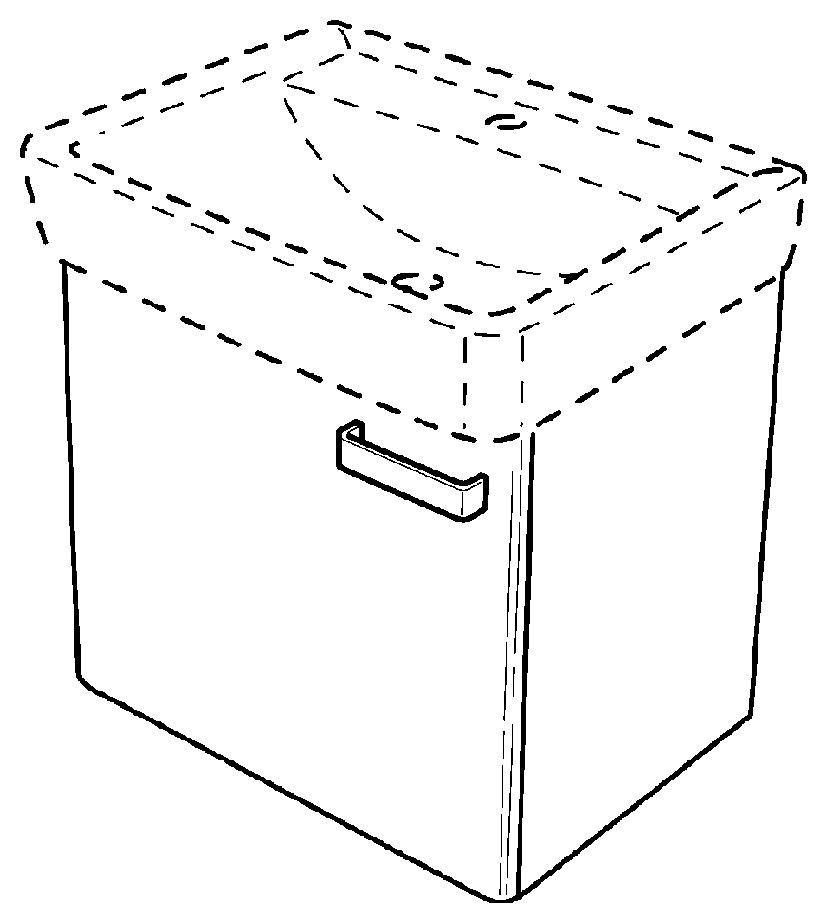 keramag renova nr 1 plan handwaschbecken unterschrank 390x463x285mm korpus wei front. Black Bedroom Furniture Sets. Home Design Ideas
