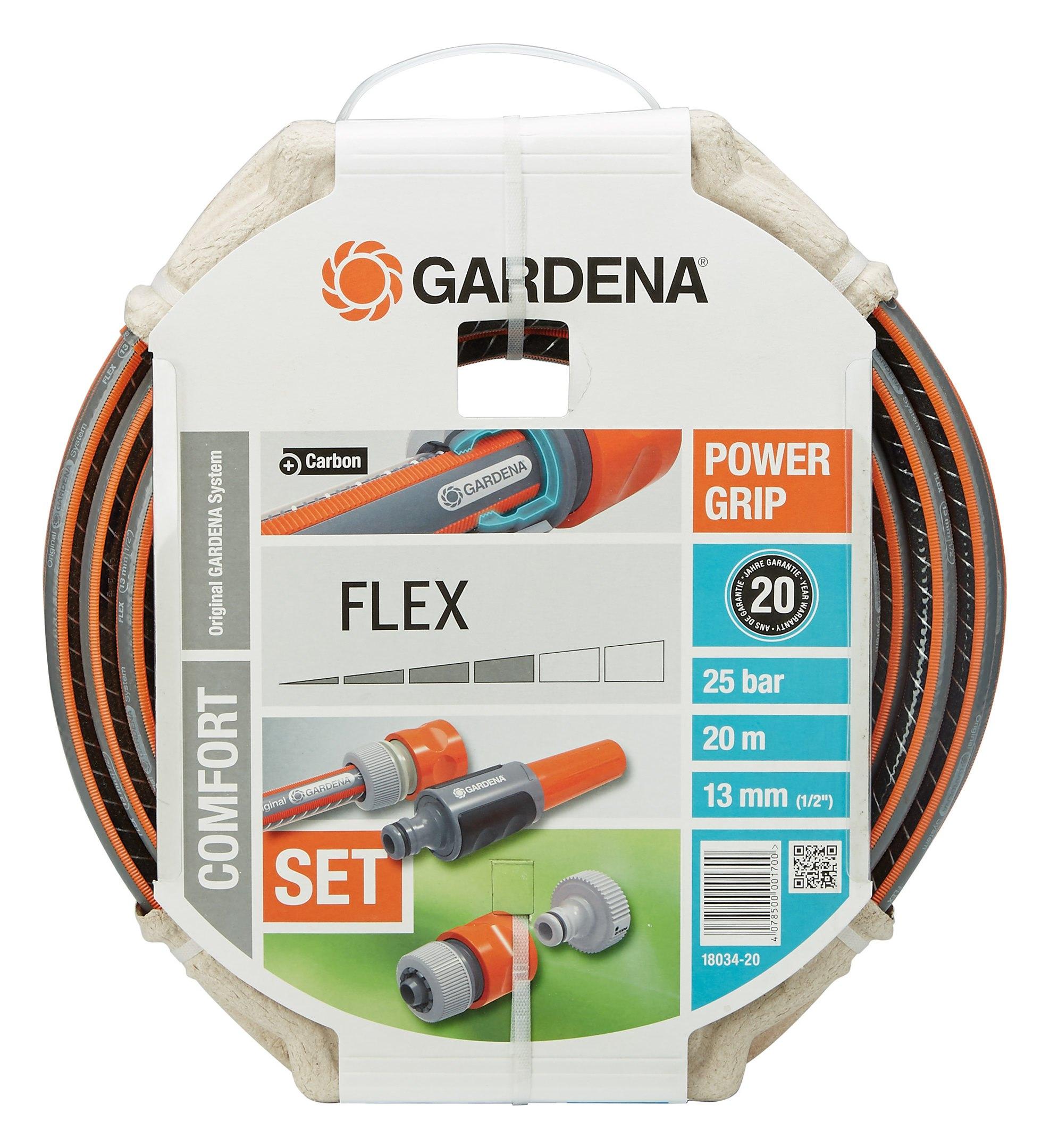 gardena flex schlauch 9x9 1 2 20 m mit systemteilen. Black Bedroom Furniture Sets. Home Design Ideas