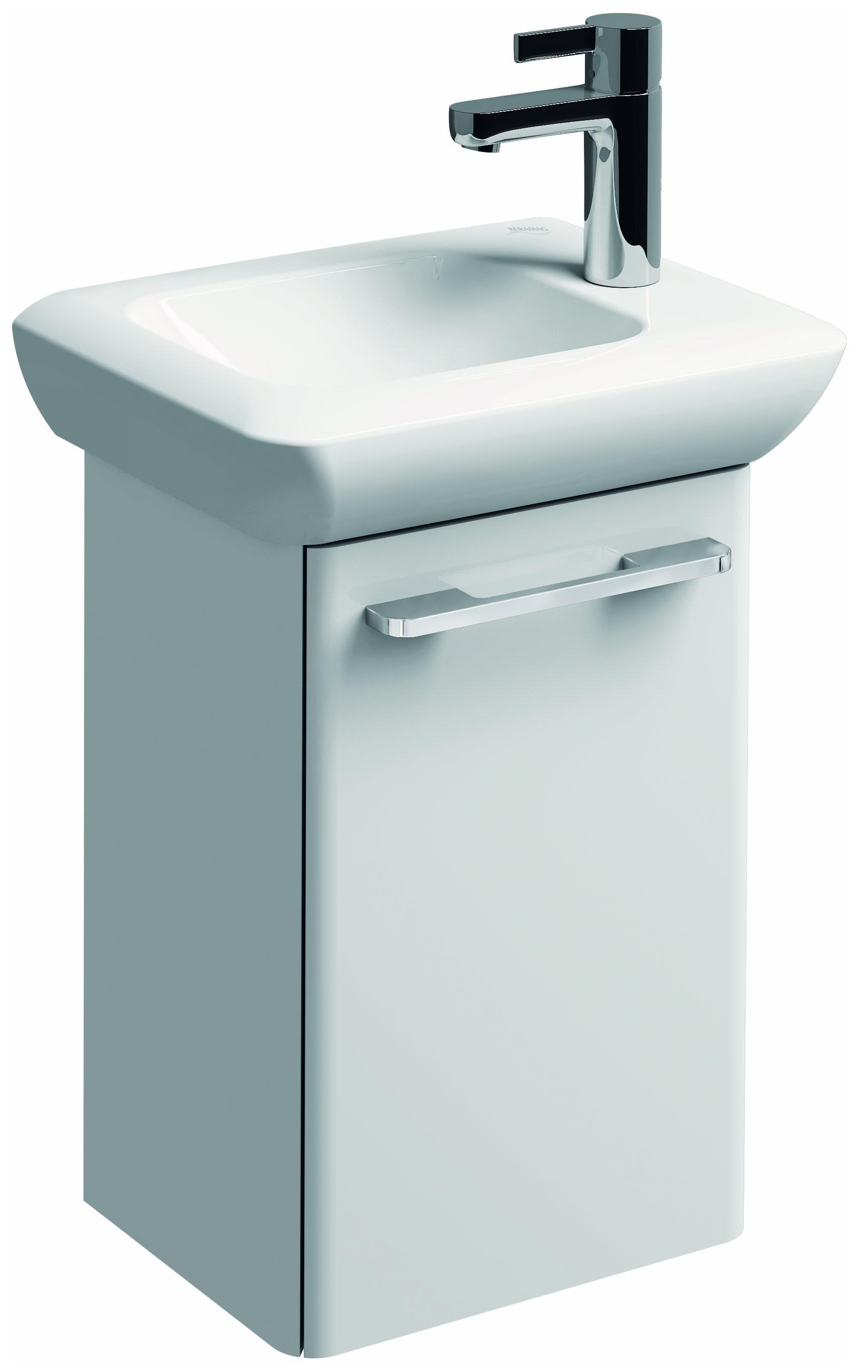 keramag it handwaschbecken ohne berlauf 400mm x 280mm hahnloch rechts wei alpin 271940000. Black Bedroom Furniture Sets. Home Design Ideas