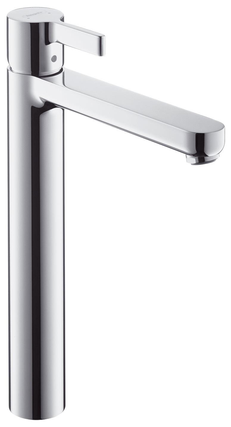 hansgrohe metris s waschtischmischer highriser ohne ablaufgarnitur chrom 31023000. Black Bedroom Furniture Sets. Home Design Ideas