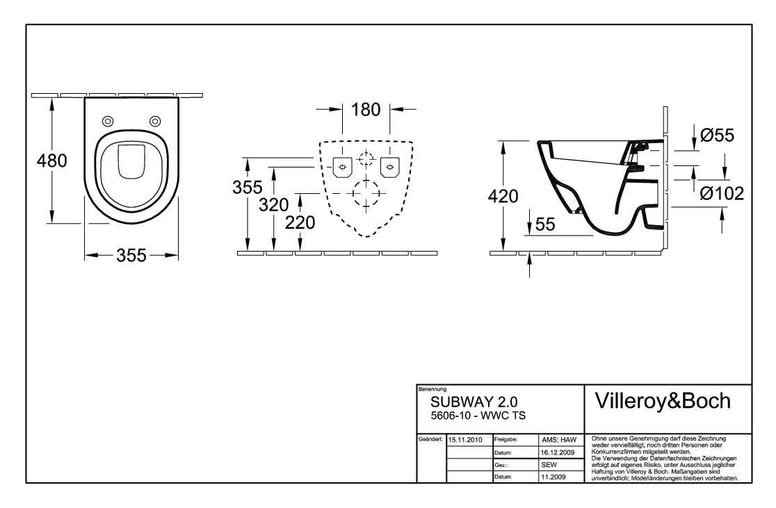 Villeroy Boch Subway 2 0 Tiefspulklosett Compact Wand Wc Mit