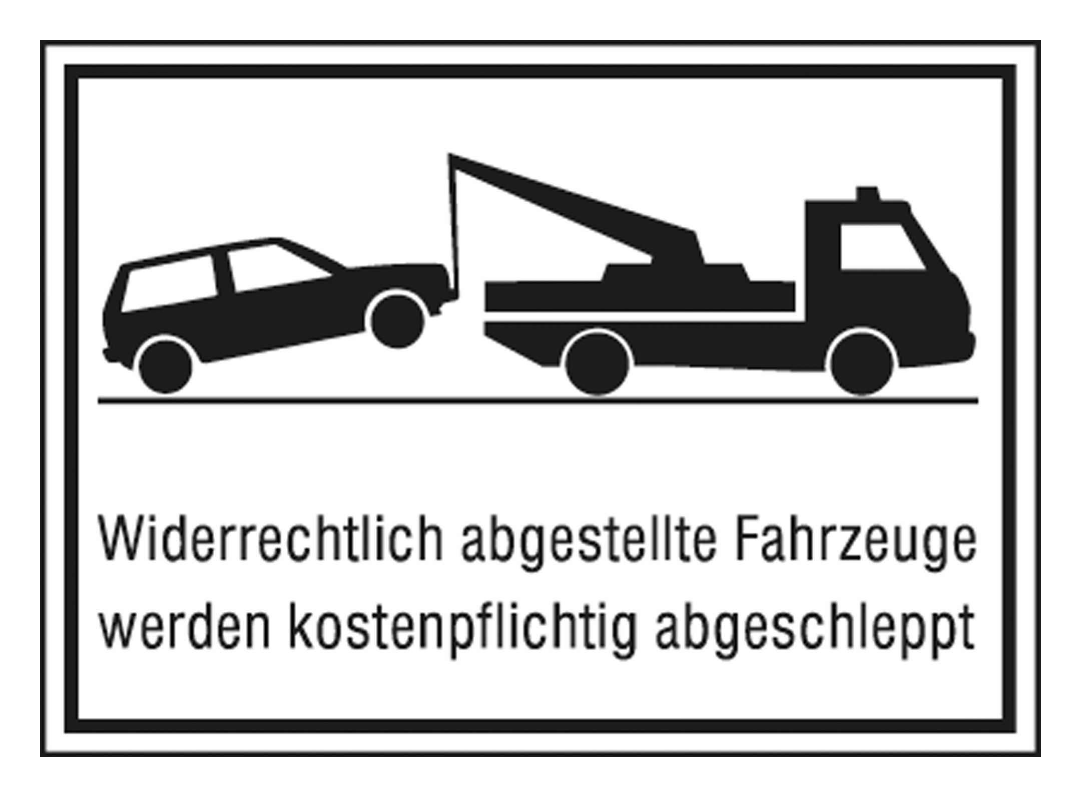SafetyMarking Parkverbotschild Alu 400 x 250 mm Widerrechtlich abgestellte Fahrzeuge - 11.5174